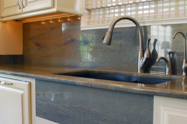 Granite Counters with Matching Sink Apron